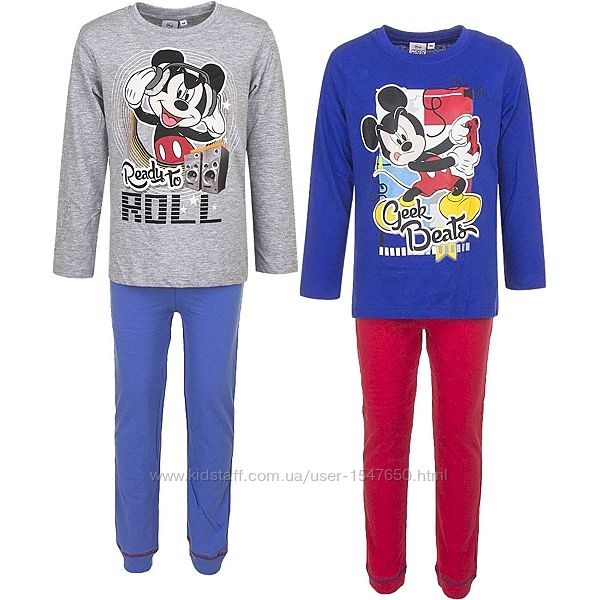 Хлопковая пижама с Микки Маусом, Mickey Mouse р. 98, 128, Disney