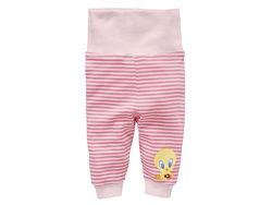 Трикотажные полосатые штаны с твитти на девочек 0-6 м, looney tunes / lidl