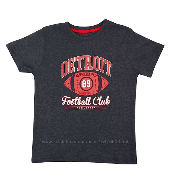 Стильная футболка с футбольным принтом для мальчика, primark