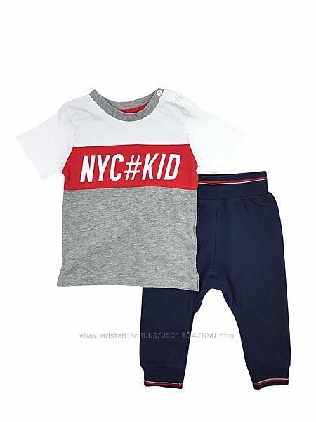 Костюм, футболка и утепленные штаны на мальчика, early days by primark