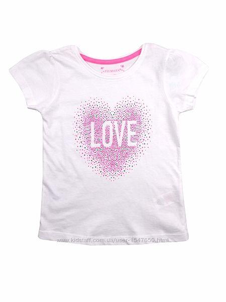 Белая футболка для девочки, primark