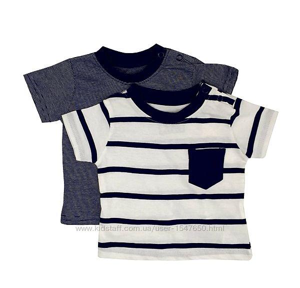 Комплектом стильные полосатые футболки на мальчика р. 68, early days