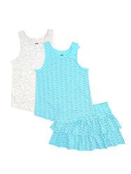 Комплект, летний костюм на девочек от 2 до 10 лет, майка, юбка h&m