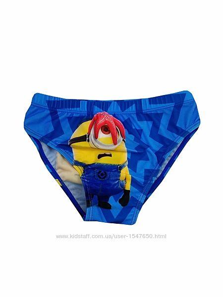 Голубые плавки для мальчика миньоны, despicable me, minion made, disney