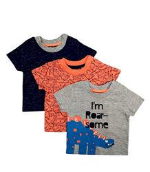 Комплект футболок с динозаврами на мальчика 0 - 6 месяцев, футболка primark