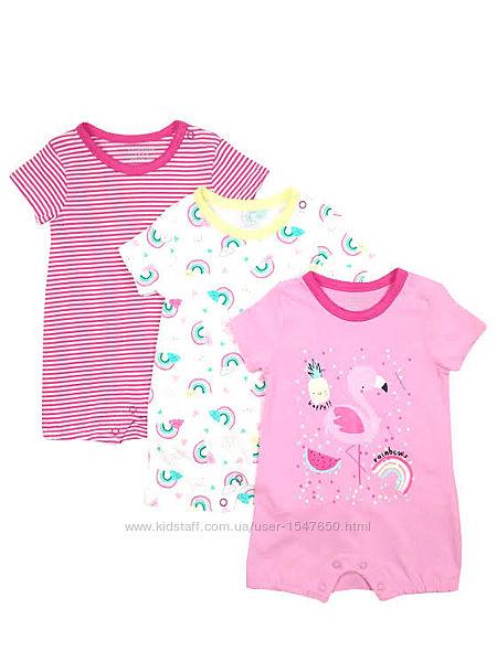 Хлопковые летние песочники на девочек 3 - 6 месяцев, р. 68, primark baby