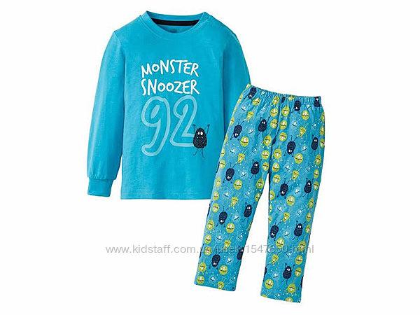 Светится хлопковая пижама с монстриками для мальчиков 98 - 104 р. lupilu