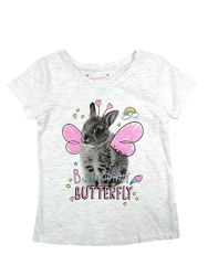 Серая футболка с зайчиком на девочек, Primark