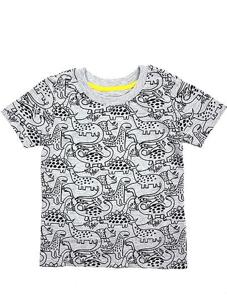 Серая футболка с динозаврами на мальчика, Primark