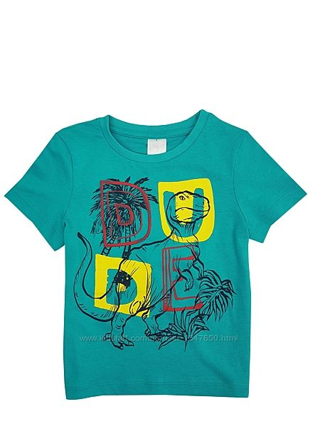 Стильная футболка на мальчика р. 98, биохлопок, Palomino, C&A