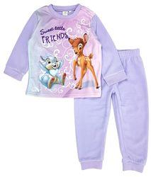 Теплый флисовый костюм, пижама с Бэмби на девочку 1-3 года, подарок Disney