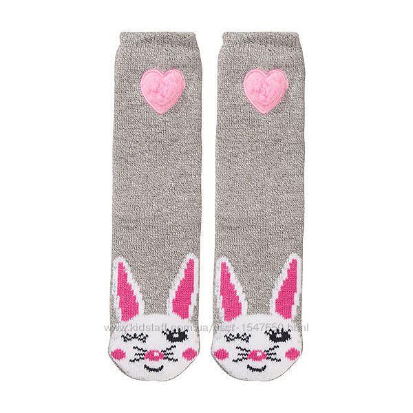 Серые домашние носки - тапочки на девочек, X-Mail KIK