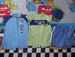 Набор, комплект cartersПесочники , кепка, шорты Картерс 6 мес