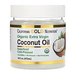 Органическое кокосовое масло первого холодного отжима, 473 мл США
