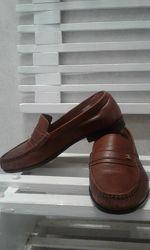 Кожанные мокасины, туфли 42 р.