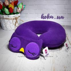 Комплект автомобильная подушка и маска для сна