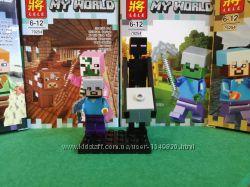 Конструктор LELE Minecraft Минифигурки Стив и Странник края Эндермен