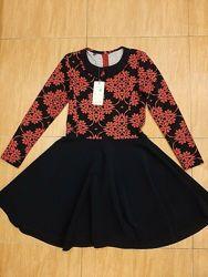 Плотное трикотажное платье школьное солнце школьная форма