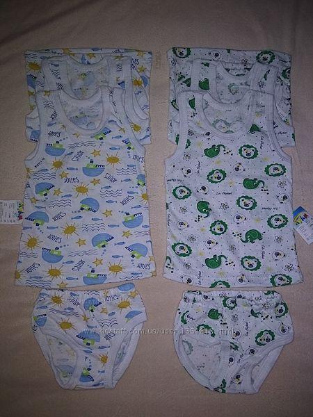Детский комплект белья для девочек майка и трусики