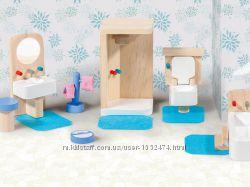 ГерманияДетская деревянная игрушечная мебель для кукольного домика playtiv