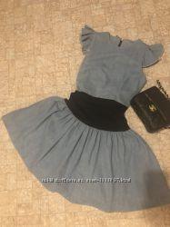 Платье джинсовое пачка