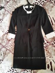 Стильный чёрный костюм платье и жакет, С р.
