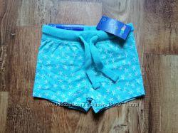 Хлопковые шортики ментолового цвета