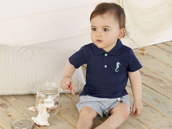 Футболка поло для малыша синяя