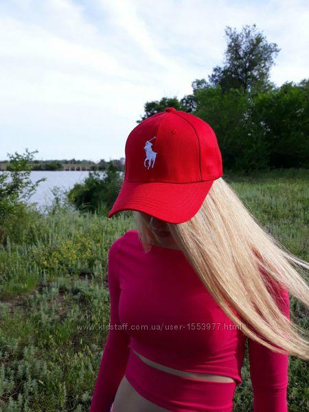 Красная бейсболка кепка поло polo Ralph Lauren