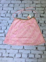 Летняя юбка асилуэта мини миди розовая