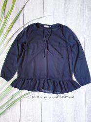 Стильная блуза женская черная топ casual