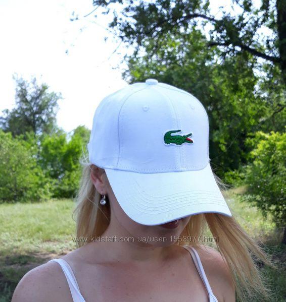Бейсболка лакосте белая женская летняя кепка lacoste