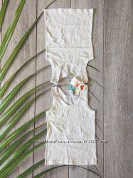 Белая нательная майка для мальчика в наборе 2 шт р 128