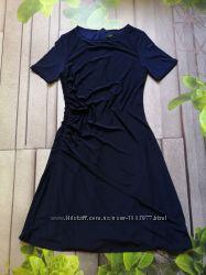 Уценка Синее платье с коротким рукавом