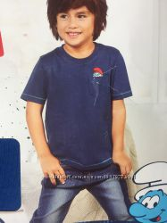 Футболочка синяя футболка мультяшная на мальчика 98 104
