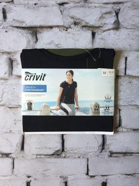 Функциональная футболка Crivit женская черная хаки М