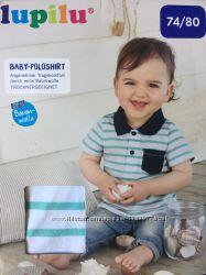 Детская поло полосатая футболка на малыша 74 80