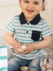 Детская поло полосатая футболка на малыша 86 92