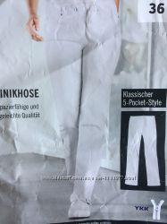 Белые джинсы брюки женские штаны форма для медика 36