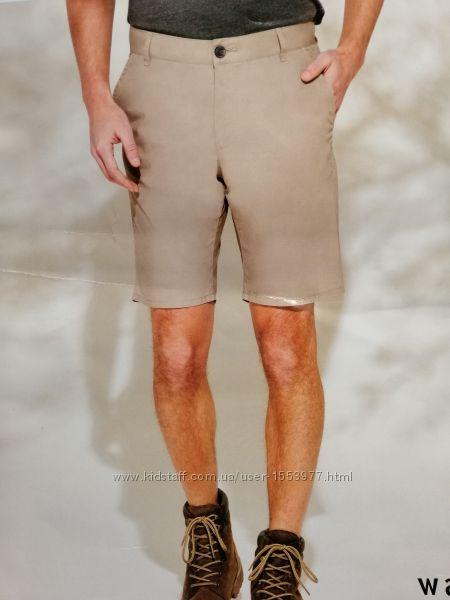 Летние шорты песочного цвета из хлопка