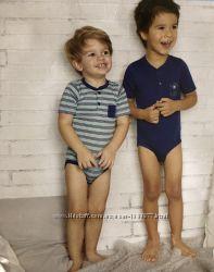 Набор из двух боди на кнопках мягкие и приятные для малыша размер 62-68