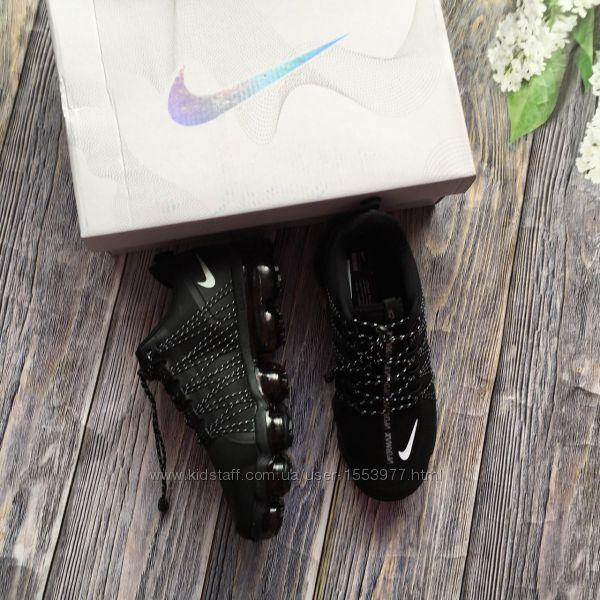 Новые мужские кроссовки реплика Nike Air Vapormax Flyknit черные
