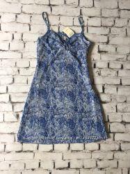 Платье со змеиным принтом сарафан на тонких бретелях