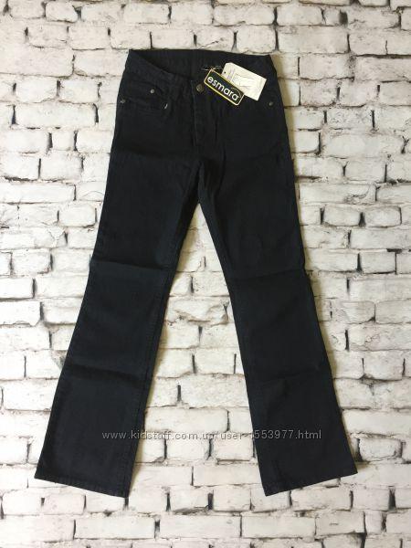 Женские джинсы темно синие со стразами