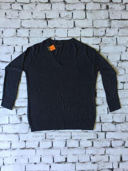 Стильный полувер оверсайз свитер удлененый под рубашку
