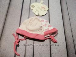Набор из двух летних шапочек для малышки био хлопок