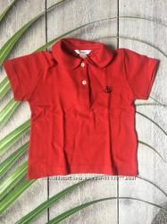 Детская футболка красная поло стильная тенниска Италия