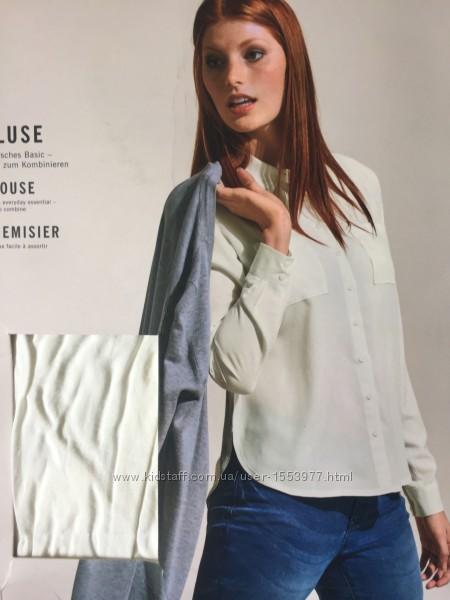 Белая рубашка женская крутая блуза базовая модель вискоза
