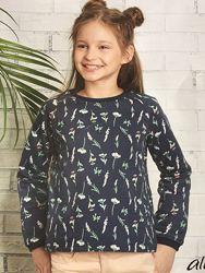 Детская кофта реглан свитер стильная толстовка принт цветы