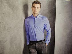 Рубашка голубая премиум коллекция классика